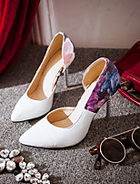 Women's Shoes Leatherette Stiletto Heel Heels Pumps/Heels Office & Career/Party & Evening Black/Pink/White