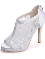 Women's Shoes  Stiletto Heel Peep Toe Sandals Wedding/Party & Evening Black/Red/Ivory/White
