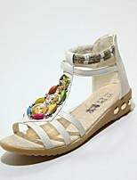 Women's Shoes  Flat Heel Gladiator/Open Toe Sandals Outdoor/Office & Career/Dress/Casual Blue/Beige