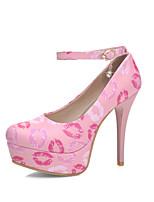 Women's Shoes Stiletto Heel Platform Pumps/Heels Office & Career/Dress Pink/Purple
