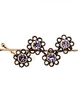 Women's Simple Plum Flower Hollow Out Crystal Hairpin FY0063