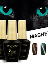 Azure 3 Pcs/Lot 3D UV Cat Eyes Magnetic Gel Polish Soak Off UV Nail Gel Set (#83+#85+#86)