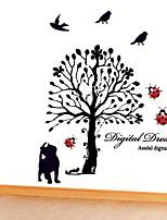 Wall Stickers Wall Decals, Cartoon Black Cat Tree PVC Wall Stickers