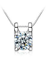 donna jazlyn® autentico platino placcata argento 925 pendente scintillante collana zirconi