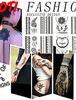 8 PCS/Lot BlackLace Hena Body Tattoos Sticker For  Women W306-313