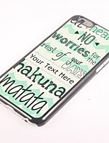 Personalized Gift Hakuna Matata Design Aluminum Hard Case for iPhone 6