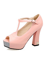 Women's Shoes Patent Leather Stiletto Heel Peep Toe Pumps Dress More Colors available