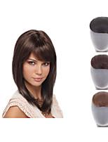 naturlig klippet inn på bangs syntetisk hår pannelugg for kvinner