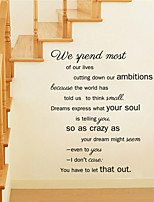 Wall Stickers Wall Decals Style We Spend Most of Our Lives English Words & Quotes PVC Wall Stickers