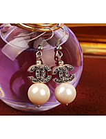 Drop Earrings Women's Pearl Earring Pearl