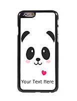 Personalized Gift Lovely Panda Design Aluminum Hard Case for iPhone 6 Plus