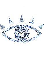 Modern Plastic Big Blue Eye Pattern Wall Clock 13.7*23.6 inch / 35*60 cm