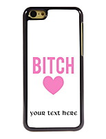 Personalized Gift Bitch Design Aluminum Hard Case for iPhone 5C