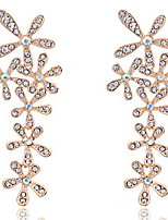 Full Crystals Flowers Drop Earrings