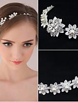 Women's Pearl Rhinestone Wedding Bridal Tiara Forehead Headpieces