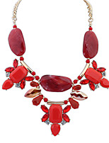Women's European Style Fashion Sweet Irregular Acrylic Necklace