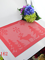 Christmas deer Organization Section Insulation Mat,PVC