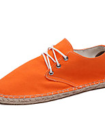 Zapatos de mujer - Tacón Plano - Alpargatas - Planos - Casual - Tela - Azul / Blanco / Naranja