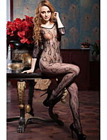 Women's Floral Fishnet Crotchless Bodystocking