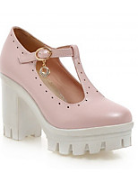 Women's Shoes Synthetic Chunky Heel Heels/Basic Pump Pumps/Heels Office & Career/Dress/Casual Blue/Pink/Purple/White
