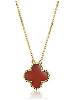 Clover Jewelry Solitaire Pendant Simulate Gemstone 925 Silver Necklace Wedding Pendant for Women 18K White Gold Plated