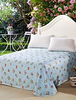 aiwode® 100% Baumwolle flachen Blatt comfortble für Einzel- oder Doppelbettgröße