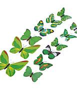 12pcs 3d mur simulation de papillon autocollants art décalcomanies