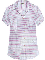 Women's Short Sleeve Cotton Striped Shirts