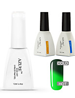 Azure 3 Pcs/Lot Color Changing with Temperature Soak-off Gel Nail Polish Kit(#48+BASE+TOP)