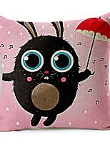 Modern Style Cartoon Bady Cat Cotton/Linen Decorative Pillow Cover