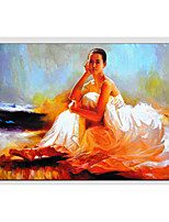 Oil Paintings Modern People , Canvas Material with Stretched Frame Ready To Hang SIZE:60*90CM.