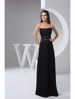 Formal Evening Dresses A-line Strapless Floor-length Satin Women Long Prom Dress