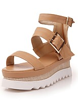 Women's Shoes Wedge Heel/Open Toe/Ankle Strap Sandals Dress Pink/White/Brown