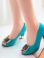 Women's Shoes  Stiletto Heel Peep Toe Sandals Office & Career/Dress/Casual Black/Blue/Green/Red