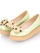 Girls' Shoes Casual Round Toe  Flats Black/Green/Pink/Red