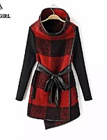 LIVAGIRL®Women's Coat Fashion Joint Stand Neck Long Sleeve Woolen Overcoat Europe Style Winter All-Match Wind Coat