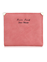 New Pattern Retro Ultra Thin Lovely Love Scrub Lady Small Short Paragraph Wallet