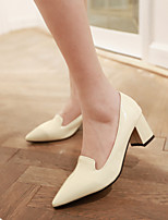Women's Shoes Patent Leather Stiletto Heel Pointed Toe Pumps/Heels Office & Career/Dress Black/Green/Red/Beige