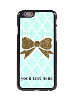 Personalized Gift Golden Bowknot Design Aluminum Hard Case for iPhone 6