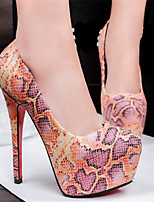 Women's Shoes Leatherette Stiletto Heel Heels Pumps/Heels Casual Multi-color