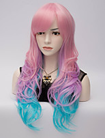 European and American Wind Color Face High Temperature Long Curly Hair Silk Wig
