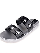 Women's Shoes Flat Heel Open Toe Sandals/Slippers Casual Black/White