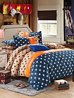 La housse de couette de mingjie ville de style étoiles bleues jaunes ponçage ensembles de literie fixe linge de lit porcelaine queen et