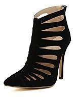 Zapatos de mujer Cuero Sintético Tacón Stiletto Botines Botas Casual Negro