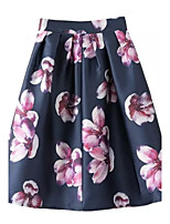 Women's Casual Micro elastic Medium Knee length Skirts