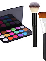 Pro Party 18 Colors Eyeshadow Matt Earth Color Makeup Palette +2 Powder Brush