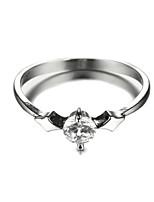 Sjeweler Ladies Platinum Plating Simple Zircon Wedding Ring