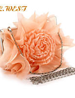 L.WEST® Women's Fashion And Elegant Satin Rose Party/Evening Bag