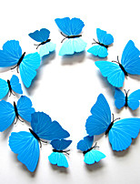 3D Wall Stickers Wall Decals Style Butterfly Color Blue PVC Wall Stickers
