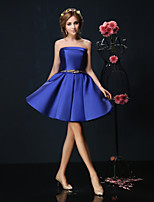 Cocktail Party Dress - Burgundy/Royal Blue/Ivory Ball Gown Strapless Short/Mini Charmeuse